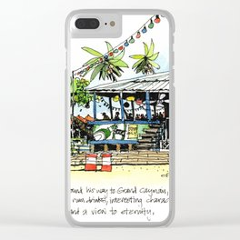 Calico Jack's, Grand Cayman (with notes) Clear iPhone Case