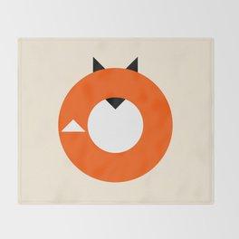 A Most Minimalist Fox Throw Blanket