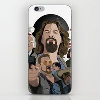 the big lebowski iPhone & iPod Skins featuring The Big Lebowski by Chad Trutt
