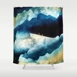 State of isolation Shower Curtain