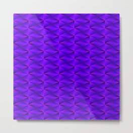 Zigzags and arrows of violet rhombuses and black strict triangles. Metal Print