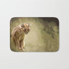 Caracal- wild cat Bath Mat