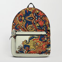 Orange Indian Mandala Backpack