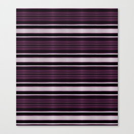 Elegant Bold Purple and Siver Stripes Canvas Print