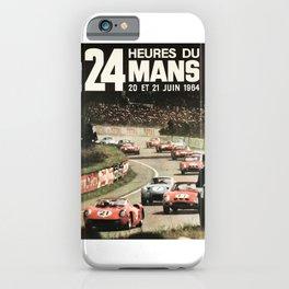 Le Mans 1964, Le Mans poster, Le Mans t shirt, Race poster, iPhone Case