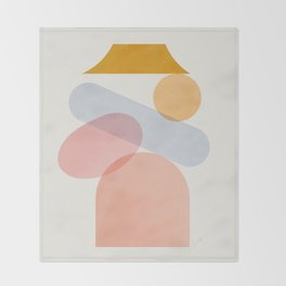 Abstraction_Home_Sweet_Home Throw Blanket