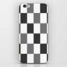 Slate & Gray Checkers / Checkerboard iPhone Skin