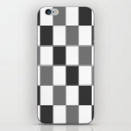 Slate & Gray Checkers / Checkerboard iPhone Skin