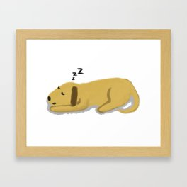 Sleepy Dog Framed Art Print