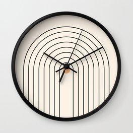 Mid Century Modern Geometric 37 ( Rainbow and Sun Abstraction) Wall Clock