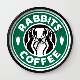 RABBITS COFFEE Wall Clock