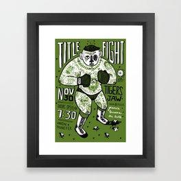 Title Fight Framed Art Print