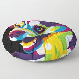 Siberian Husky Dog Portrait Floor Pillow