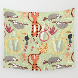 Rain forest animals 004 Wall Tapestry