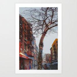 Clinton Street Xmas Art Print