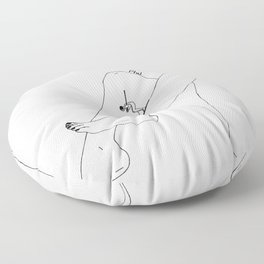 Downhill Floor Pillow