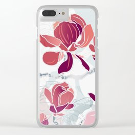 spring 3 blossoms Clear iPhone Case
