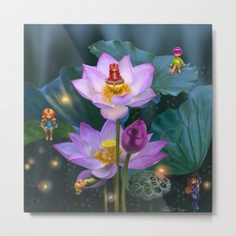 Lotus of India Metal Print