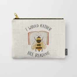 Happy Bee Reading a Book Carry-All Pouch