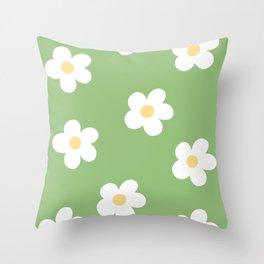 Retro 60's Flower Power Print Throw Pillow