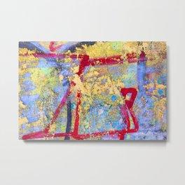 Textures in paint Metal Print