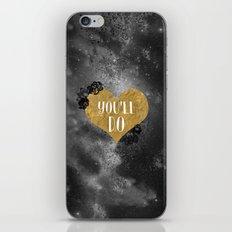 You'll Do Conversation Heart gold iPhone & iPod Skin