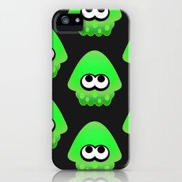 Splatoon Squid Pattern Green iPhone Case