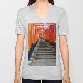 Fushimi Inari Gates Unisex V-Neck