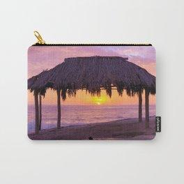Windansea Ocean Beach Hut at Sunset (blue, purple, pink, orange) Carry-All Pouch