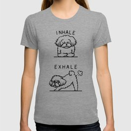 Inhale Exhale Maltese T-shirt