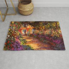 Garden Path at Giverny - Claude Monet 1902 Rug