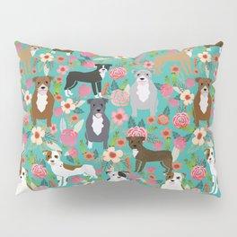 Pitbull mixed coat colors dog breed lover pibbles pitbulls florals gifts Pillow Sham