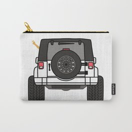 Jeep Wave Back View - White Jeep Carry-All Pouch