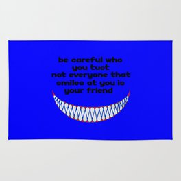 funny quote friend or foe Rug