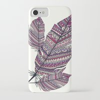feathers iPhone & iPod Cases featuring FEATHERS by Monika Strigel®
