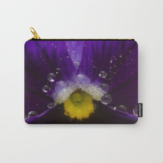 Pretty Pansy Carry-All Pouch