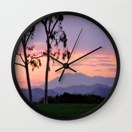 Saddleback Sunset Wall Clock