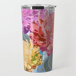 Trio of Peonies - Summer Pastels Travel Mug