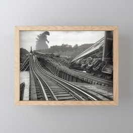 Washington D.C. Anacostia Bridge 1933 Godzilla Encounter Framed Mini Art Print