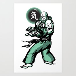 The Monk and The Orb Art Print