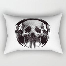 Alien Skull Listening to Music on Pro Beats Rectangular Pillow