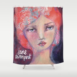 Folie by Jane Davenport ( with logo) Shower Curtain