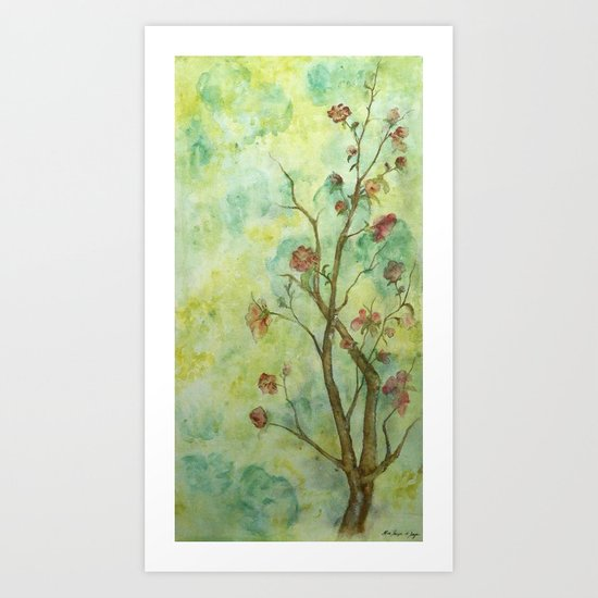 Branch with flowers Art Print