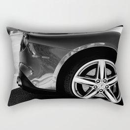 Super Car // Sexy Wheel Base Low Rims Dark Charcol Gray Black and White Rectangular Pillow
