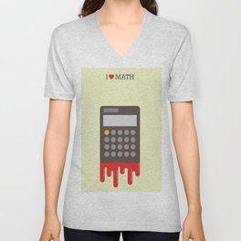 I love Math  Unisex V-Neck