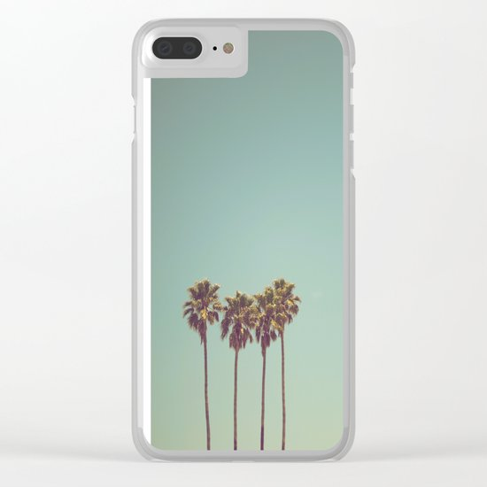 Vintage cali Clear iPhone Case
