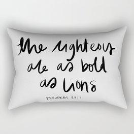 Proverbs 28:1 Rectangular Pillow