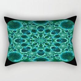 Fractal Nautilus Mandala (green) Rectangular Pillow