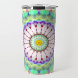 Mandala Patchwork lightblue Travel Mug