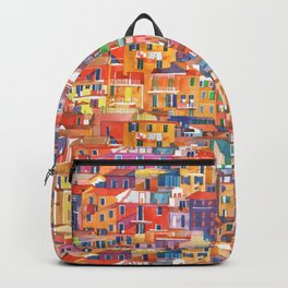 Seamless Cinque Terre Backpack